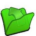 folder, parent, green icon