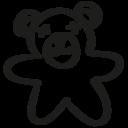 Bear hand drawn toy icon