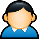 Blue, Coat, User icon