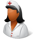 Dark, Female, Nurse icon