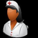 Medical Nurse Female Dark icon
