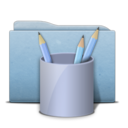 folder,blue,work icon