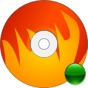 mount, disk, cdwriter, disc, burn, save, fire icon
