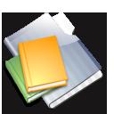 library, graphite icon
