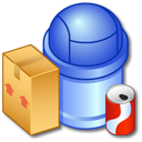 full, recycle, bin icon