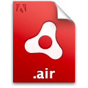 installer, air, file, document, package, adobe icon