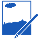 paint, net icon