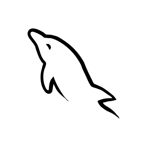 mysql, black icon