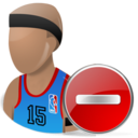 network, del, sport, remove, delete, basketball, nba icon