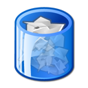 trashcan, full icon