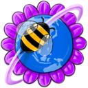 bee,flower icon
