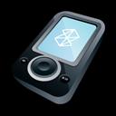 Black, Microsoft, Zune icon