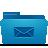 folder, blue, mail icon