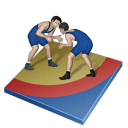roman, greco, wrestling icon