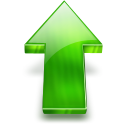 arrow, rise, increase, upload, ascending, arrow up, up, ascend icon