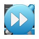 button, ffw, blue icon