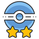 star, two, poke, trainer, pokemon, go, game icon