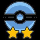 star, two, poke, trainer, pokemon, go, game icon
