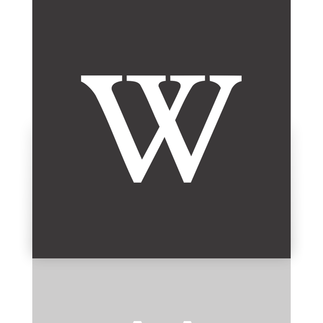 alt, mirror, wikipedia icon