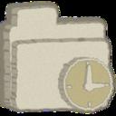 folder,clock icon