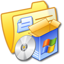 yellow, folder, software icon