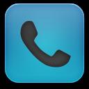 phone blue black icon