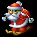 Santa skiing icon