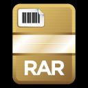 document, compressed, paper, file, rar icon