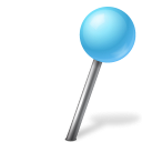 mapmarker, azure, right, ball icon