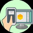 responsive design, computer, phone icon