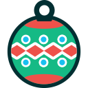 xmas, decoration, ball, winter, christmas, new year icon