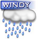 Windy rain icon