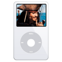 white, ipod, alternate, video icon