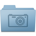 Pictures Folder Blue icon