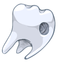 drilled, tooth icon