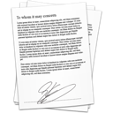 signature, references, contract, document icon