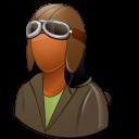 Dark, Female, Pilotoldfashioned icon