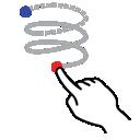 shape, gestureworks, helix, left, stroke icon