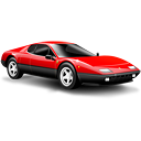 car, small car, ferrari, sports car, red icon