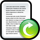 file, document, open, paper icon