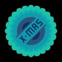 sticker, badge, x-mas, sale, christmas, shopping icon