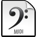 z, midi, file icon
