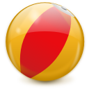 beach ball, tourism, toys icon