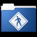 Public blue icon