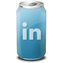 Drink, Linkedin, Texto, Web icon