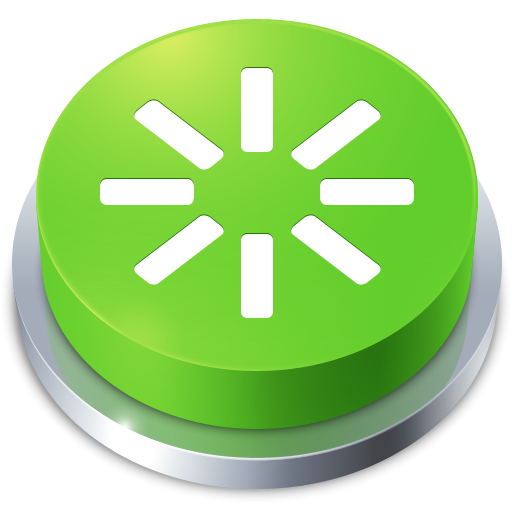 reboot, perspective, button icon