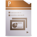Mimetypes kpresenter kpr icon