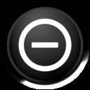 black,stop,cancel icon