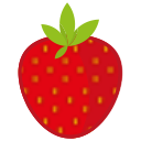 snow, breakfast, ice, food, berry, fruit, stick icon