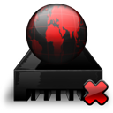 Black, Drive, Network, Off, Red icon